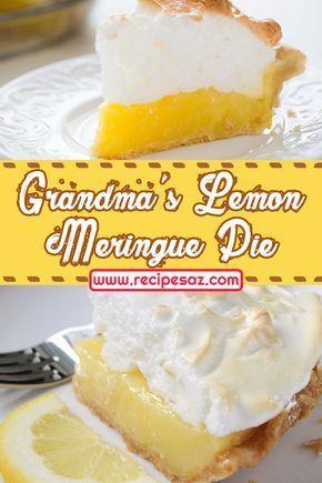 Grandma's Lemon Meringue Pie Recipe Grandma's Lemon Meringue Pie Recipe