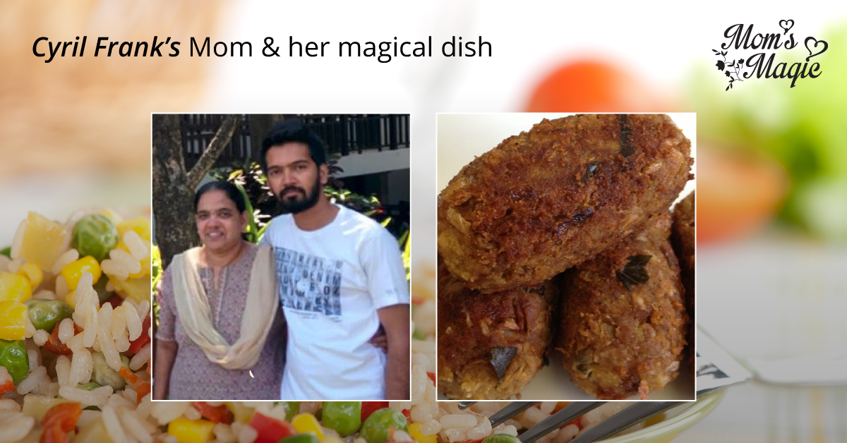 Cyril Frank is totally mesmerized by 'Idichakka cutlet' his #mom prepares. Yes, the secrets of the dish are preserved by his mother. Share a photo of your mom's special dish along with a #selfie with her to win a 2 Night 3 Day holiday with her. Participate now at www.momsmagic.co