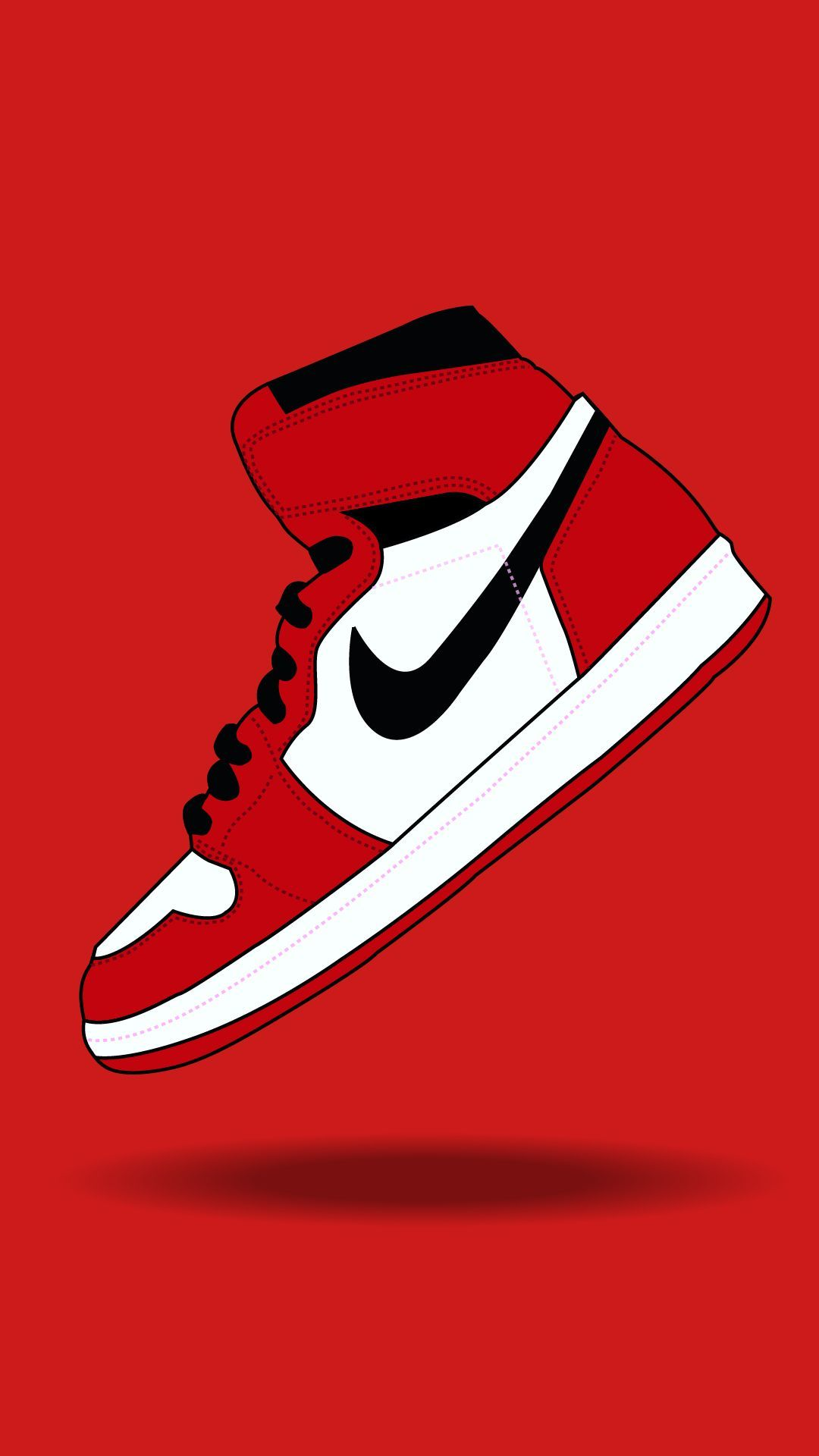 Nike Red Phone Wallpaper Nike Wallpaper Sneakers Wallpaper Jordan Shoes Wallpaper