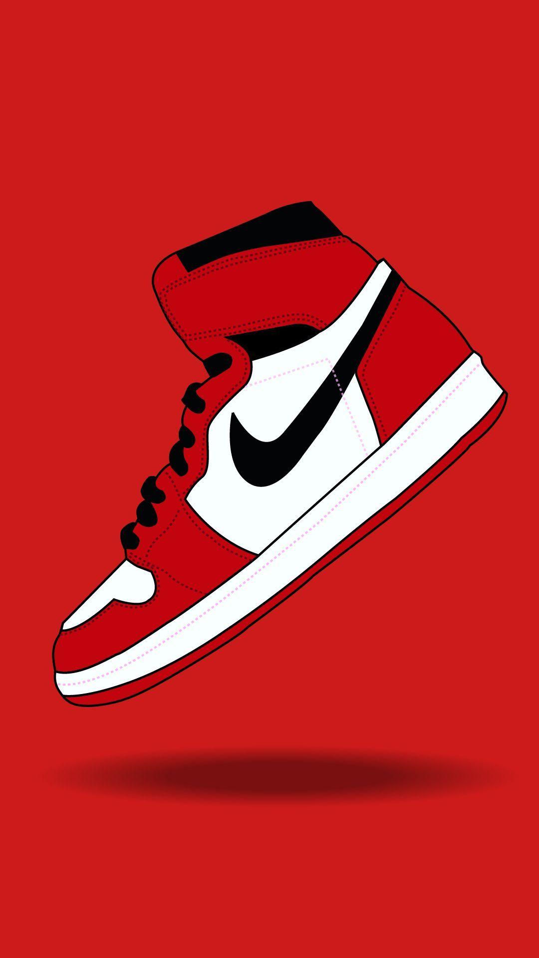 Nike Red Phone Wallpaper Nike Wallpaper Sneakers Wallpaper Jordan Shoes Wallpaper