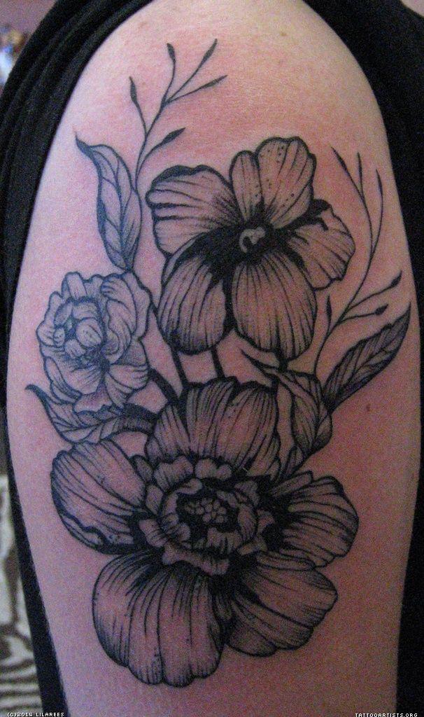 victorian tattoo   Victorian Flower Tattoos Victorian ...  Victorian Flower Tattoo