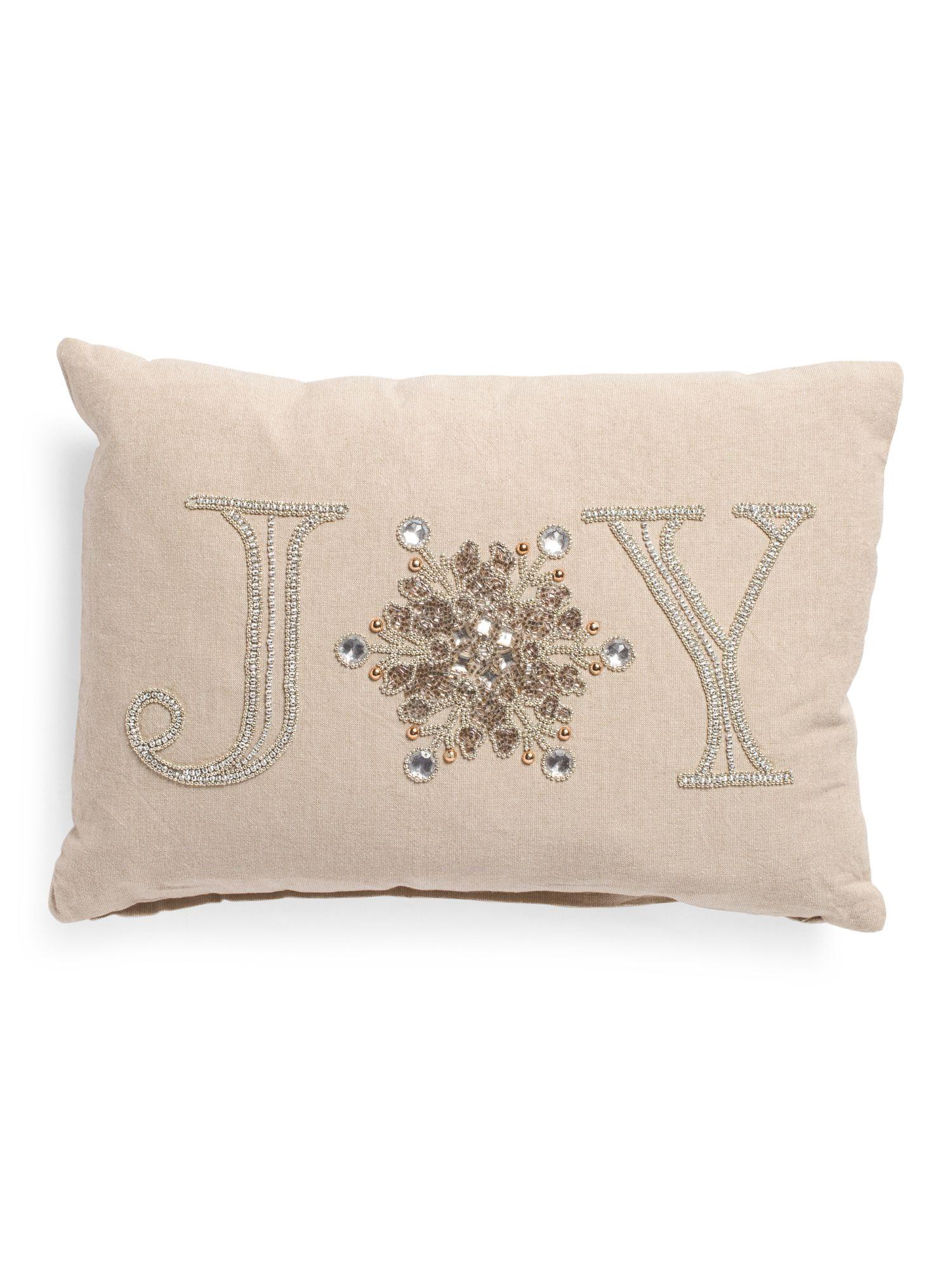 Made In India 14x20 Joy Beaded Pillow Throw Pillows T J Maxx