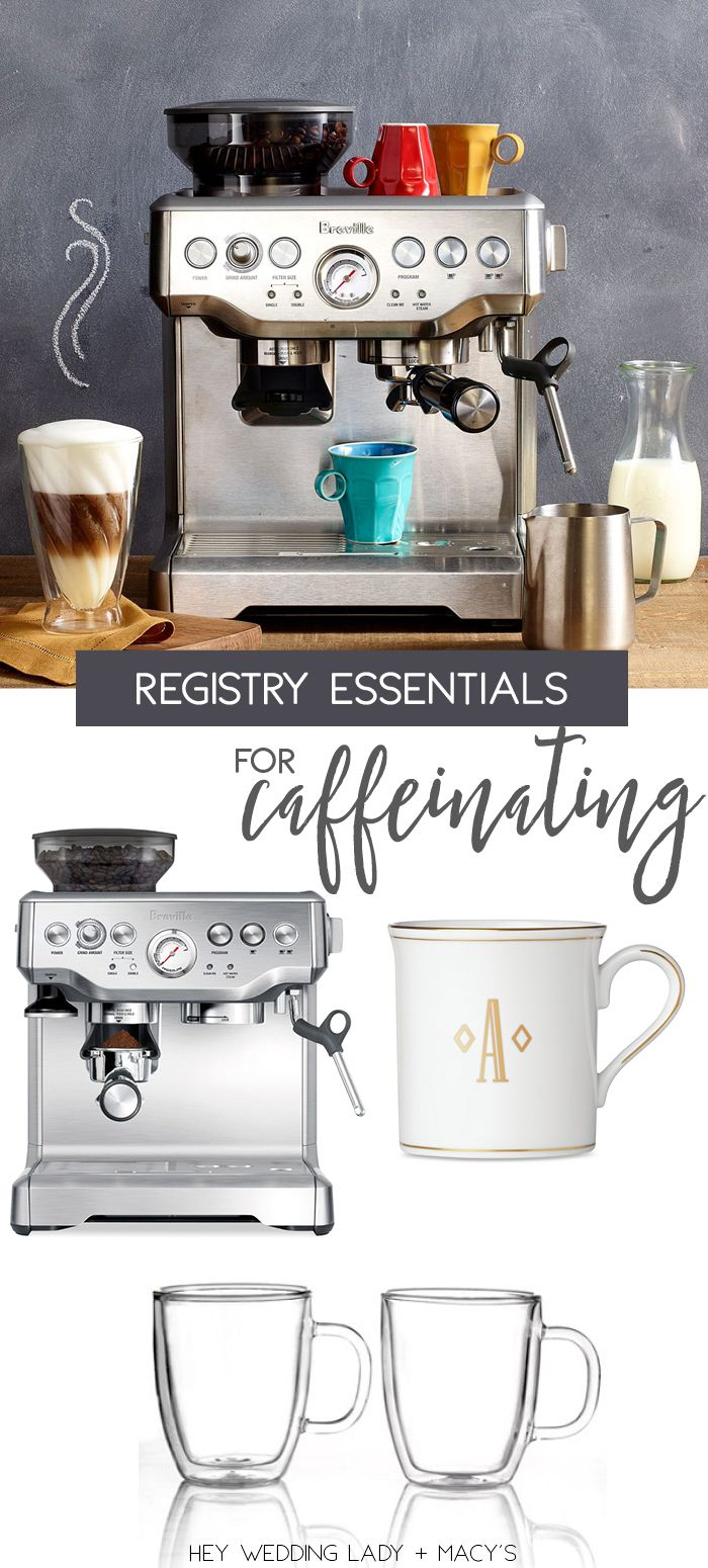 Top wedding registry picks with macys bar weddings and cookware top wedding registry picks for the ultimate coffee bar junglespirit Images