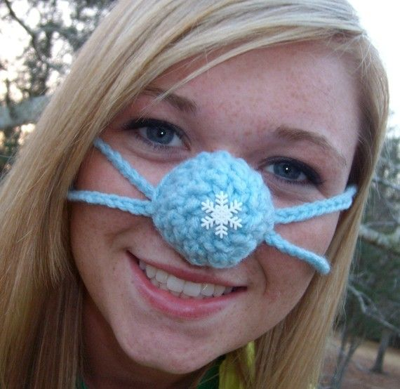 Snowflake Nose Warmer Nose Cozy Frozen Nose Cover Teen Adult