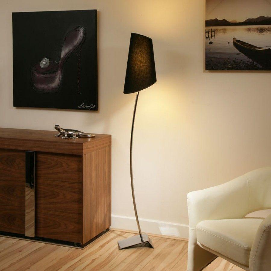 Modern Designer Standard Floor Lamp Lamps Large Black Shade New
