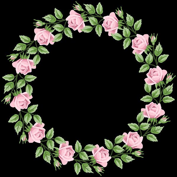 Pink Rose Border Frame Transparent Png Clip Art Clip Art Flower Art Clip Art Borders