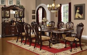 Canales Furniture Anondale 7pc Dining Set Table 4 Side Chair 2 Arm Chair Formal Dining Room Sets Classic Dining Room Furniture Furniture