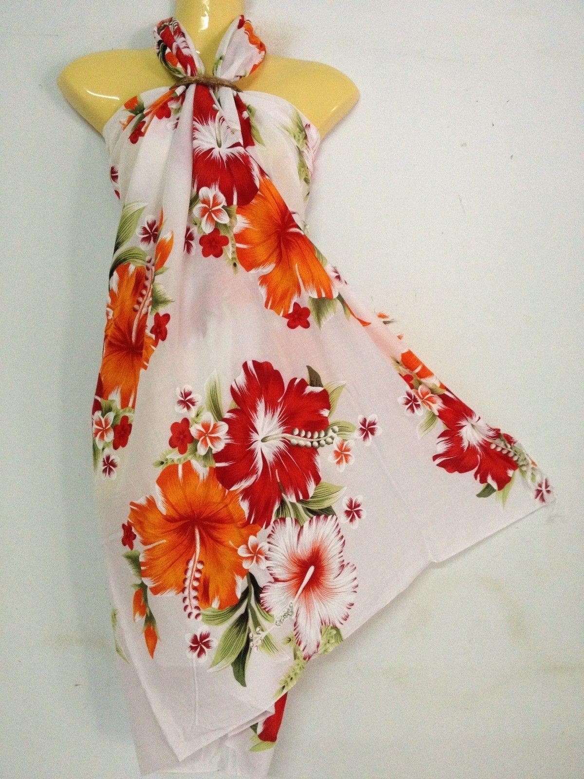 Sarong Pareo Skirt Dress Sexy Multi Color Hawaiian Island