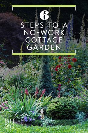 6 Steps to a No-Work Cottage Garden -  While formal gardens thrive on order and well-defined spaces, cottage gardens bubble in cheerful ta - #cottage #cottagegardens #formalgardens #garden #hedges #NoWork #raisedbeds #sideyards #steps #traditionallandscape