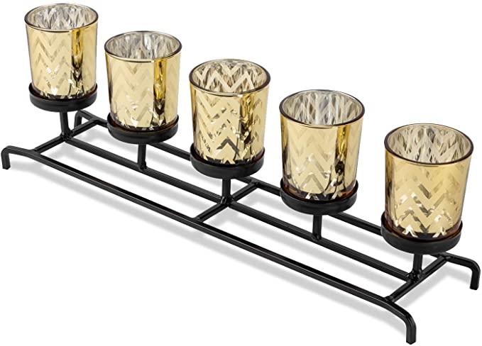 Bellezani Candle Holder Centerpiece Decorative Tealight Candle Holder Center Decorating Coffee Tables Dining Table Centerpiece Dining Table Decor