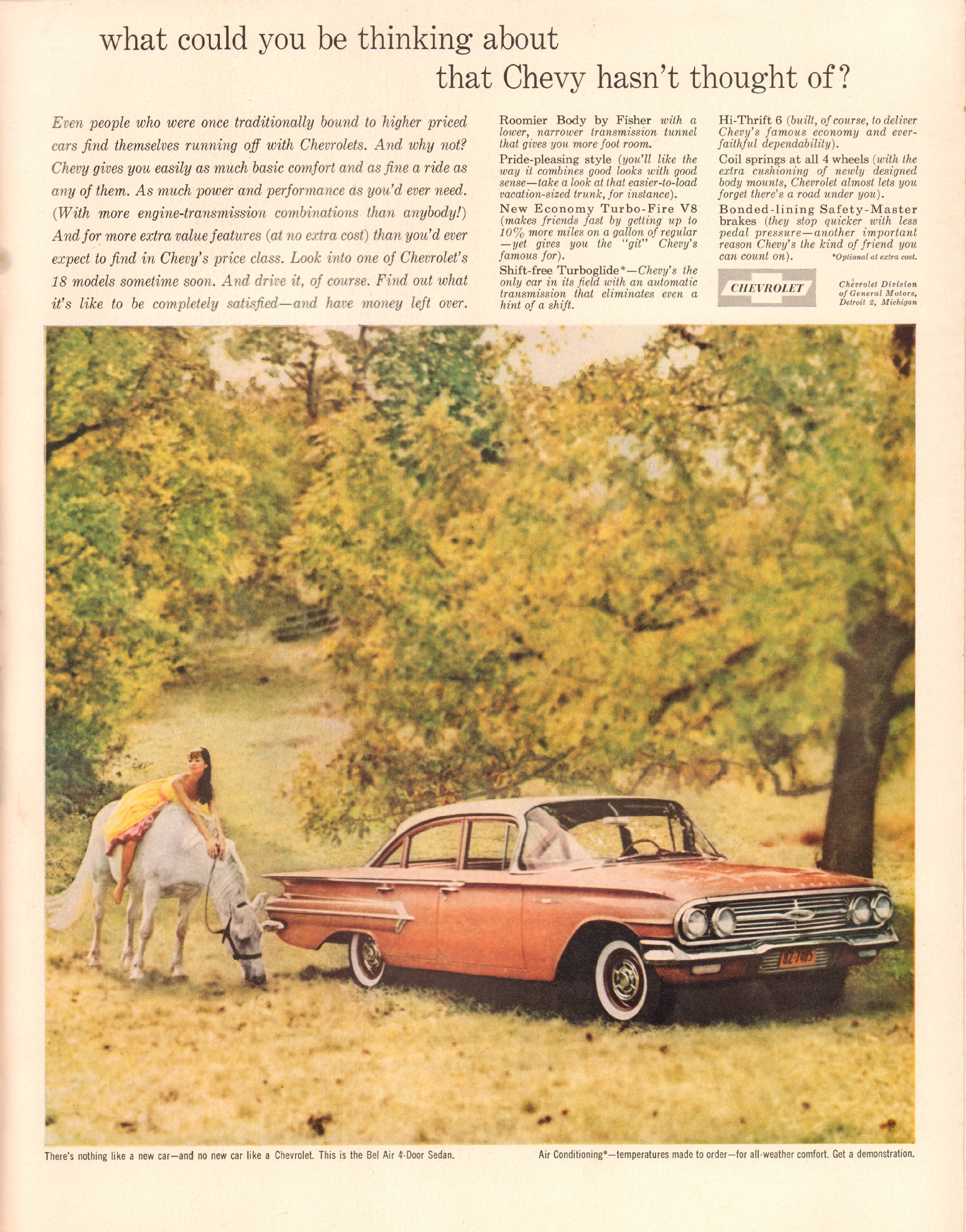 1960 Chevrolet Bel Air Advertisement Life Magazine August 1 1960