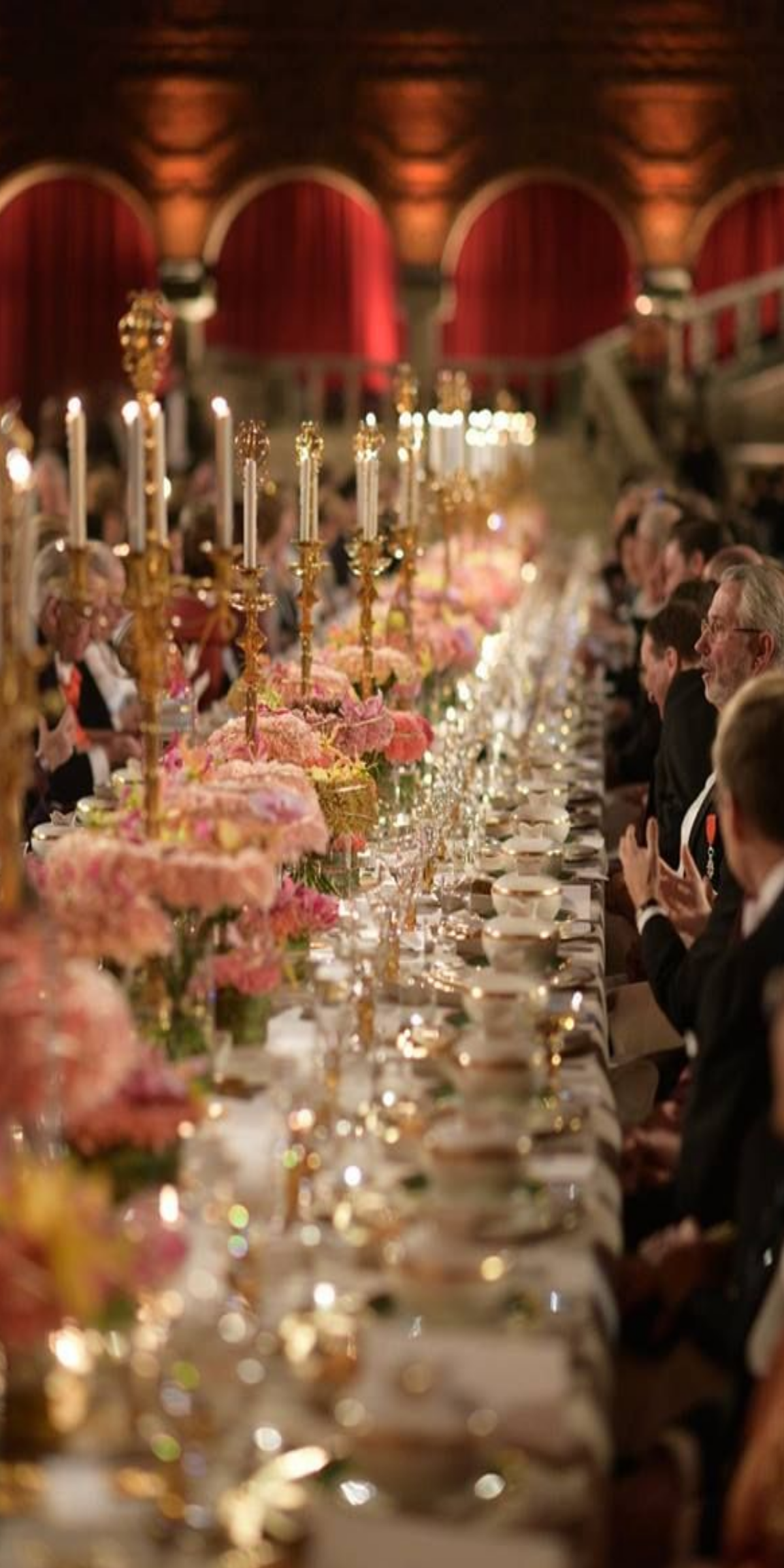 pinterest wedding table decorations candles%0A Black Tie elegance