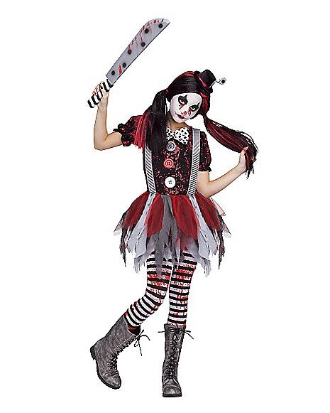 Killer Clown Halloween Costumes For Girls.Killer Clown Girls Costume Spirithalloween Com Halloween Ideas