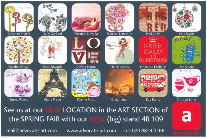 Advocate art in Greetings Today Magazine