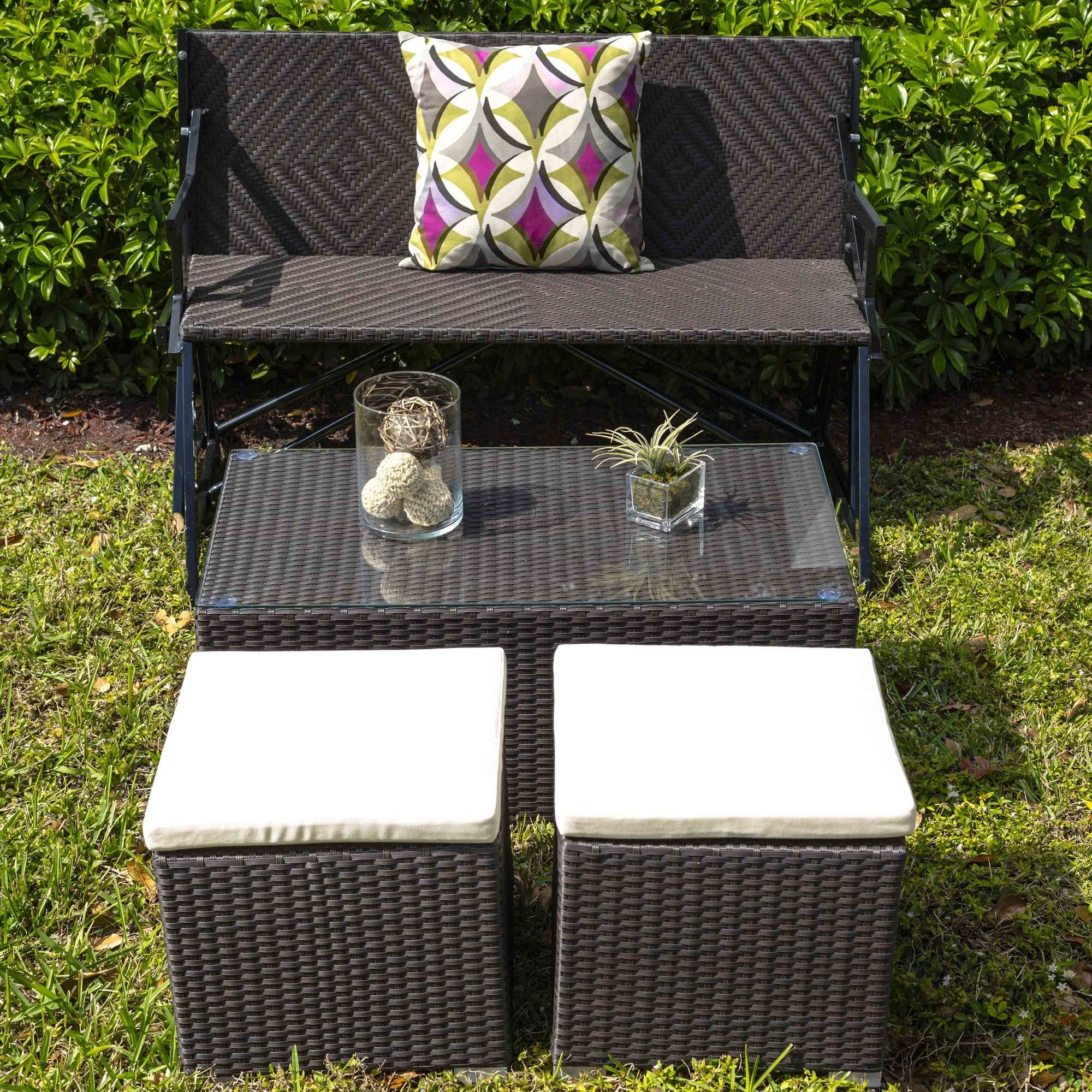 Best Hollywood Synthetic Rattan Three Piece Outdoor Coffee 400 x 300