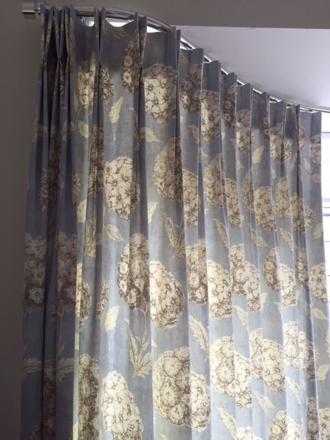 Made To Measure Metropole With Double Pinch Pleat Headed Curtains In A Soft Fl Fabric From
