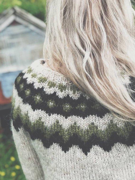 99e149e7e89 Icelandic wool sweater, warm hand knit sweater, cozy varm pullover ...