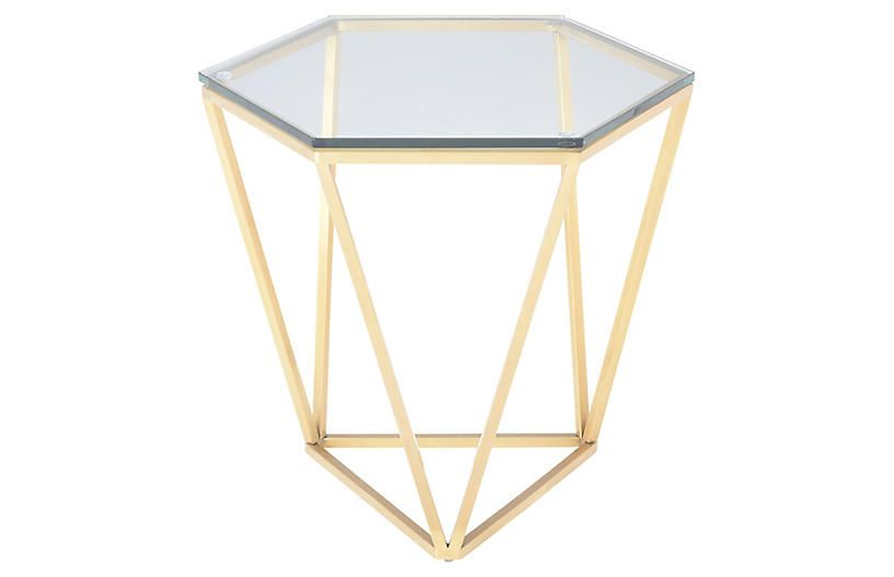 Louisa side table cleargold side table modern accent
