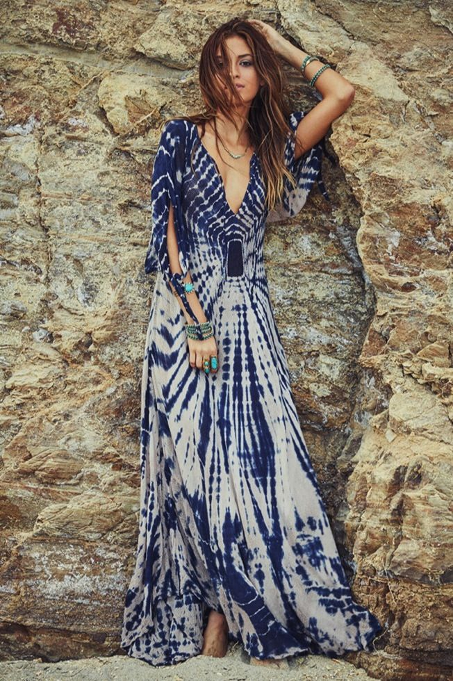 39094647e4 Wild Ethereal + Wind Ethereal || Kibbe's Flamboyant Natural - summer maxi  boho dress