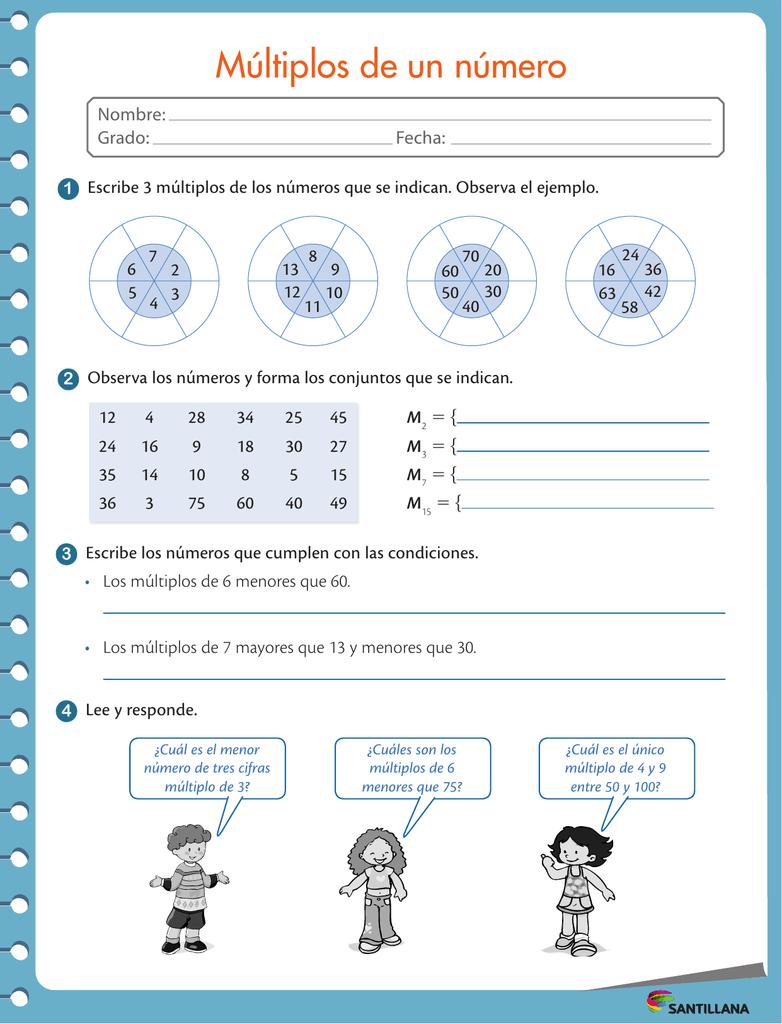 Múltiplos De Un Número Lecciones De Matemáticas Multiplos Y Divisores Clase De Matemáticas