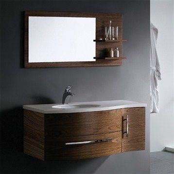 Vigo Single Bathroom Vanity With Mirror And Shelves Black - 44 inch bathroom vanity for bathroom decor ideas