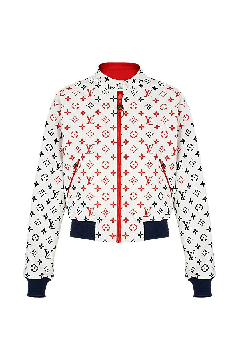 Louis Vuitton Sports jackets women, White leather jacket