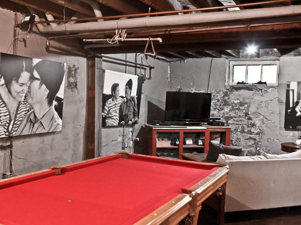This urban basement has been transformed into a multipurpose ...