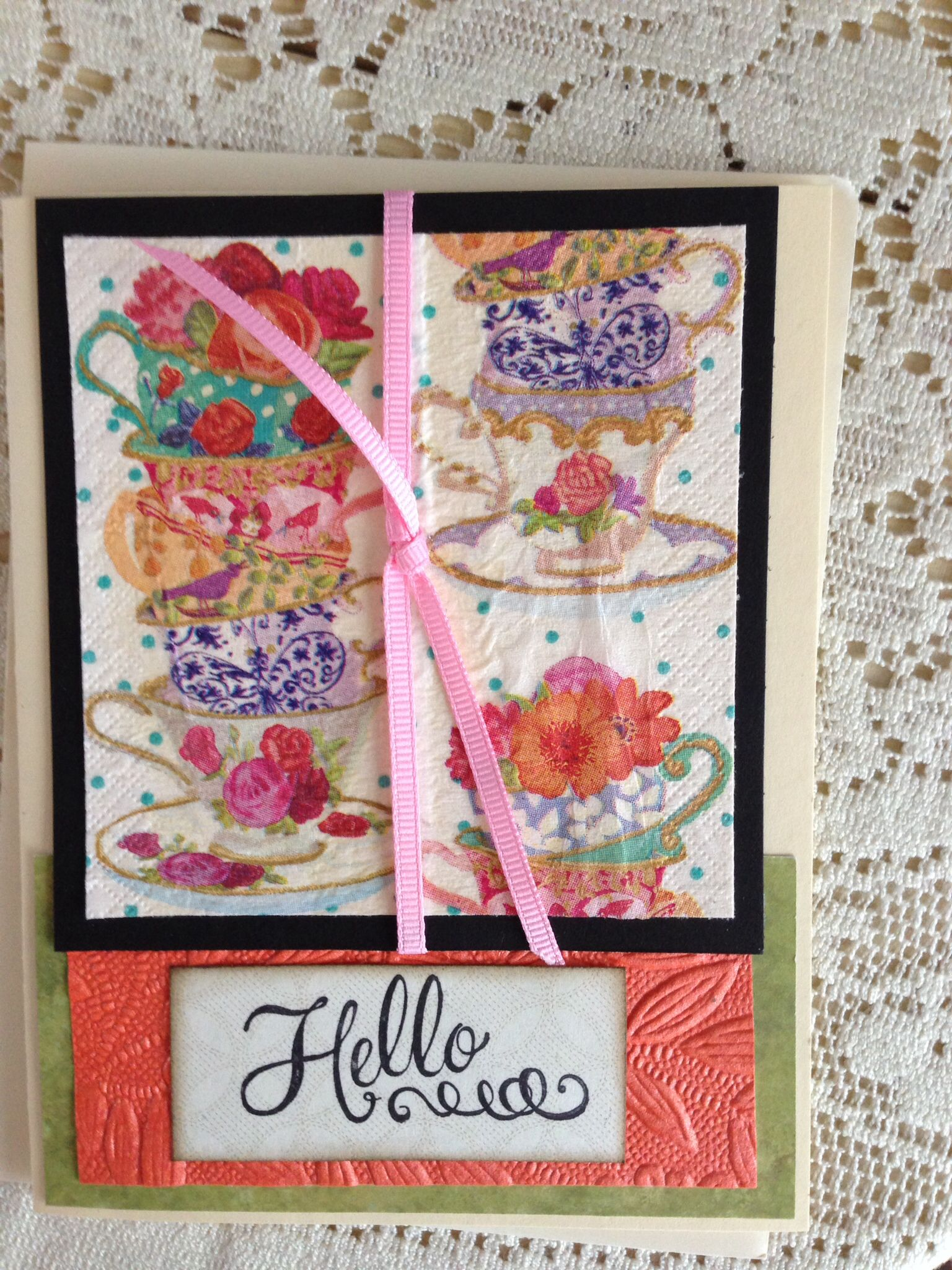 Handmade card/made with napkin/all occasion | Cards ...