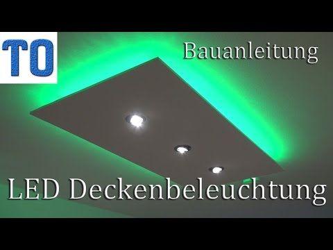 LED Deckenleuchte selber bauen | direktes und indirektes LED Licht ...