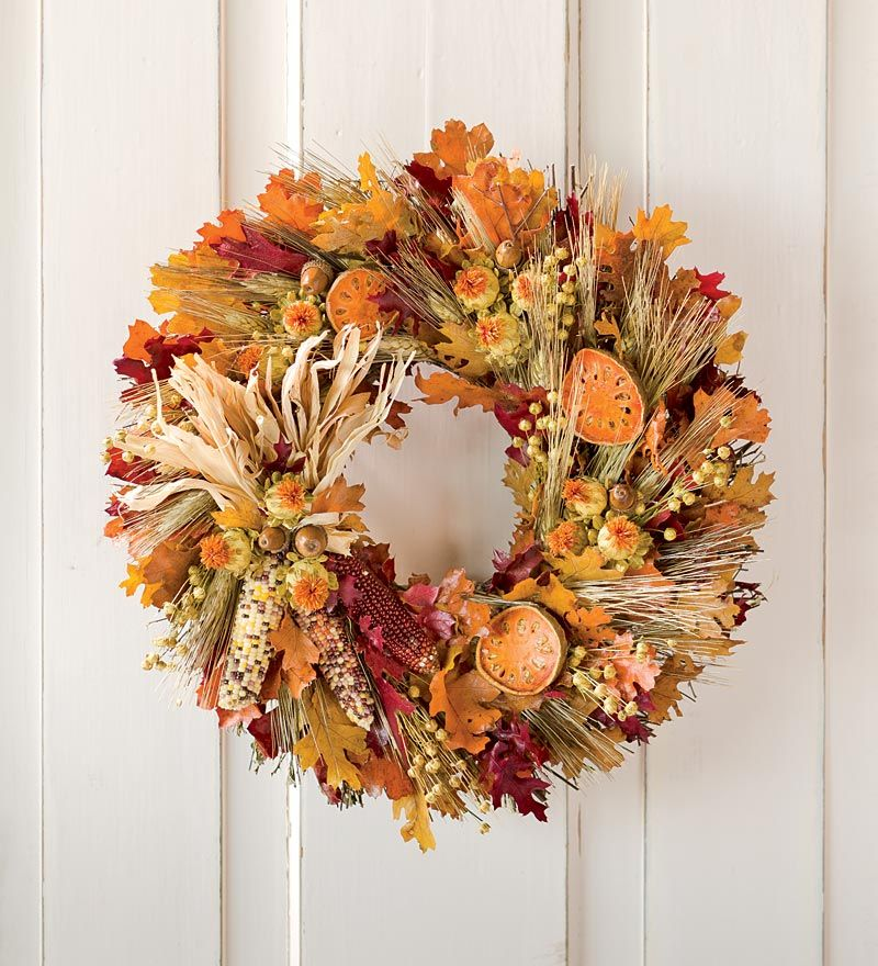 fall harvest wreath - Fall Harvest Decor
