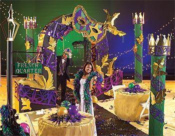 Mardi Gras Ball Decorations Midnight Masquerade Columns & Lamp Post  Masquerade Ball