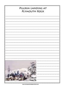 Photo of Pilgrims Landing at Plymouth Rock Notebooking Page – Homeschool Helper Online