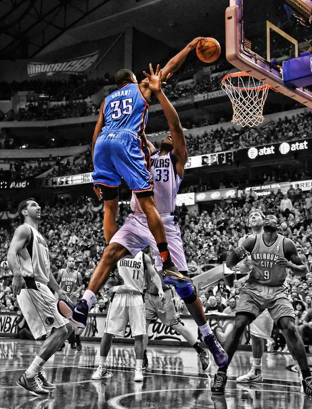 """KEVIN DURANT COLLEGE Dunk NEW 1 NBA Poster 24/"""" X 36/"""""""