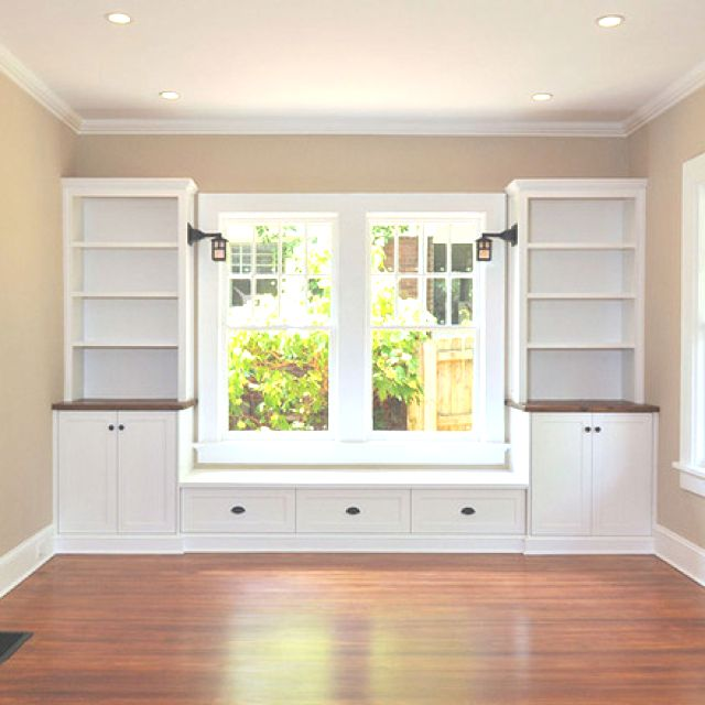 Excellent Window Seat W Built Ins Lights On Sides Brown Wood Top Caraccident5 Cool Chair Designs And Ideas Caraccident5Info