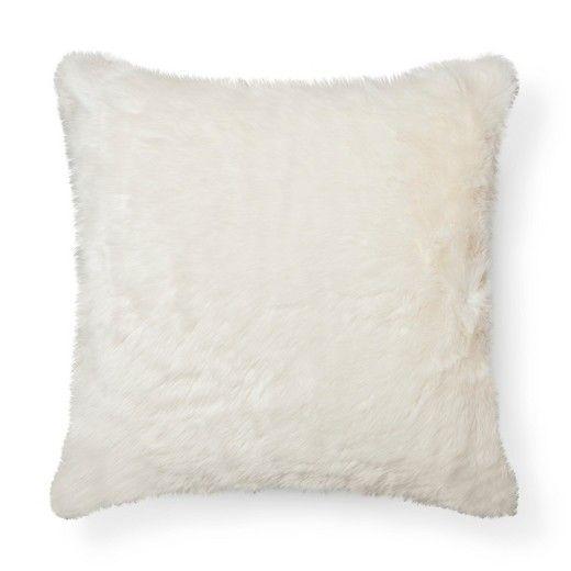 Throw Pillow Faux Fur Oversized Threshold Target Oversized Throw Pillows Cream Throw Pillows Throw Pillows