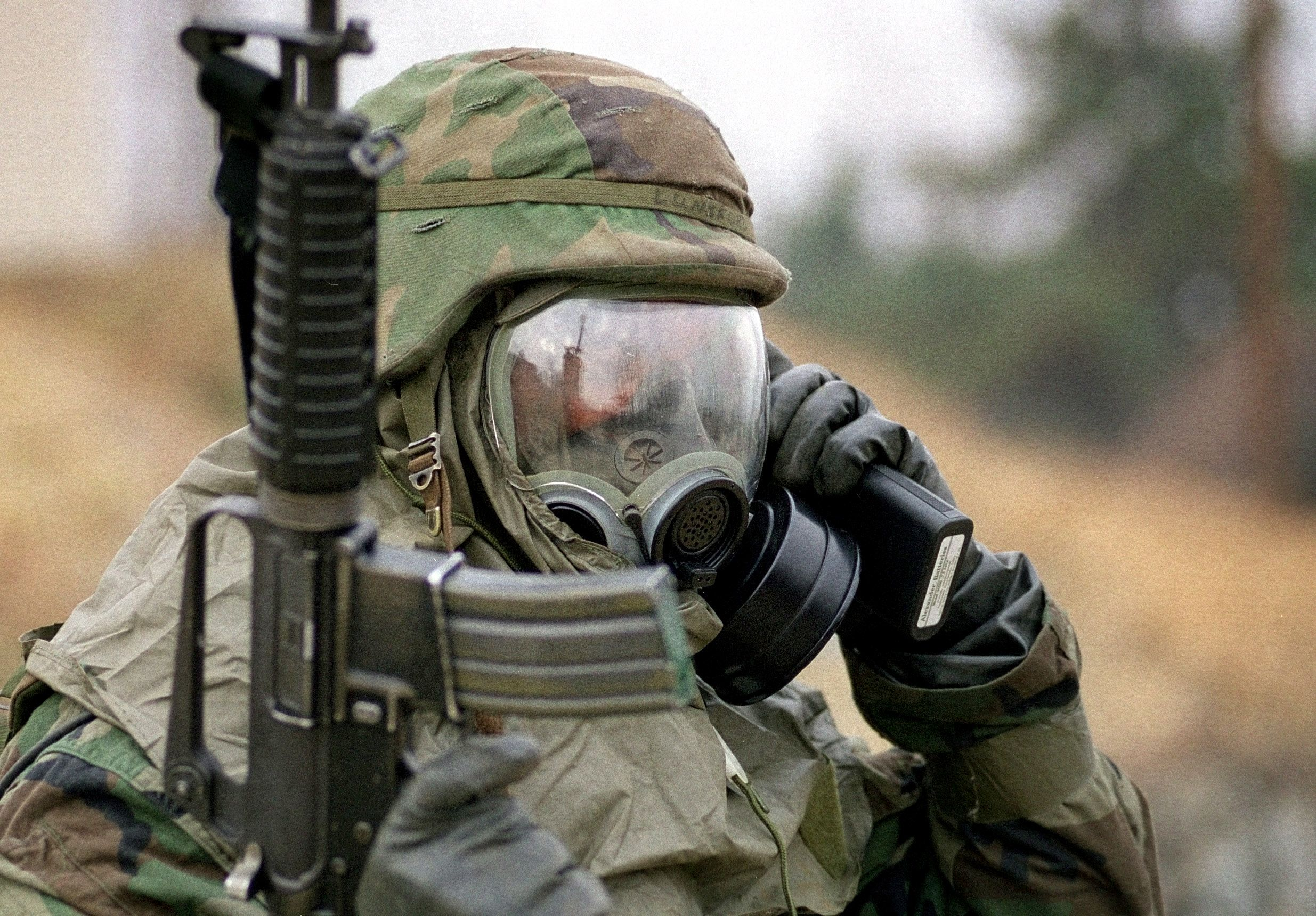 Military Response Gas mask, Chemical weapon, Military