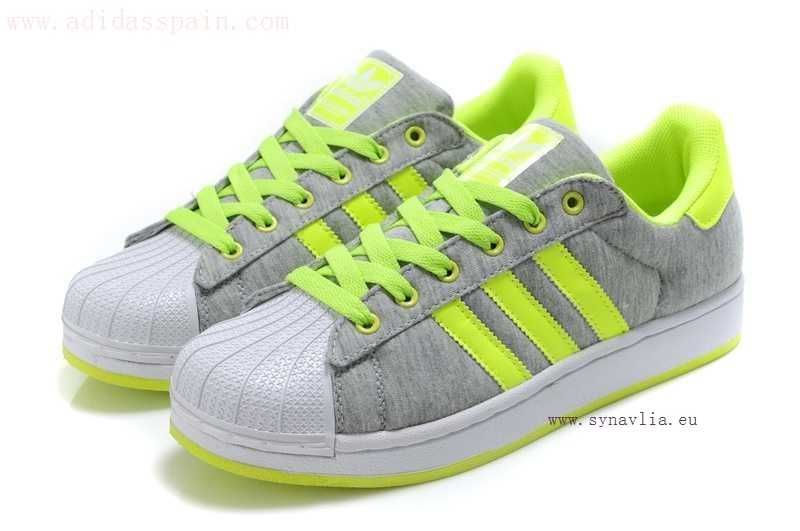 Adidas Superstar II Jersey Shell Gris Verde(outlet rosario argentina)