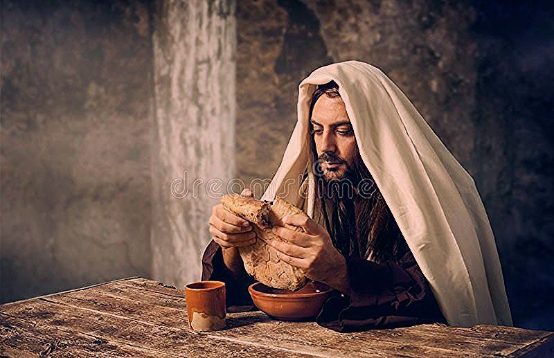 Passover Background Jesus breaks the bread The Last Supper Jesus breaks the bread