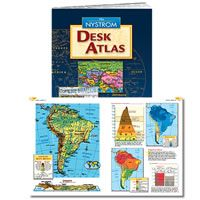 nystrom desk atlas set of 30 user friendly and graphically rh pinterest com