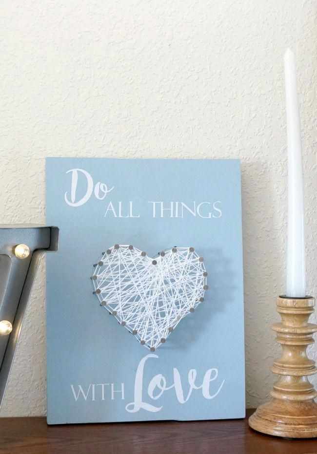 Heart String Art for Kids and Adults - Creative Ramblings