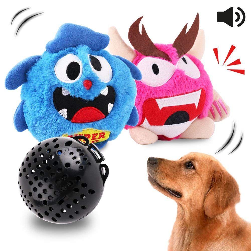 OAKZIP Dog Toys Interactive Plush Squeak Giggle Ball