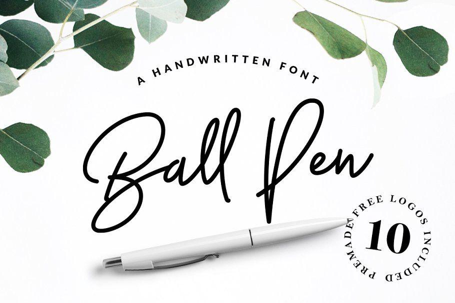 Ball Pen Handwritten Font - Script Fonts | Creative Market Pro