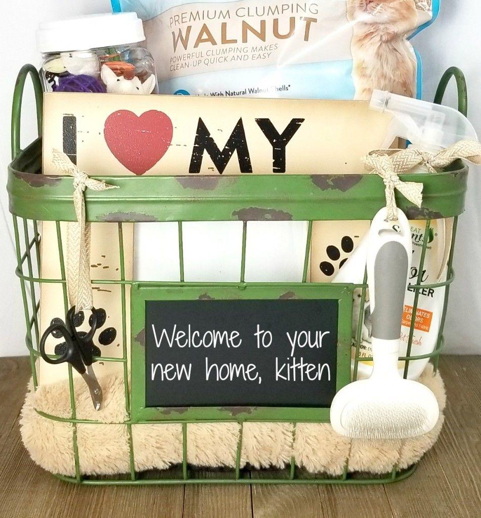 New Kitten Gift Basket Kittens Gifts Dog Gift Basket Gift Baskets