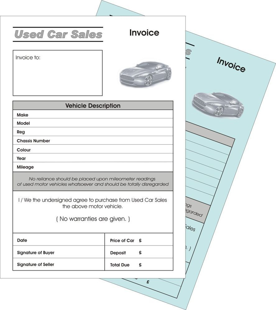 Car Sales Invoice Business Office Amp Industrial Ebay Used Vehicle Invoice Invoice Template Cars For Sale Car Purchase
