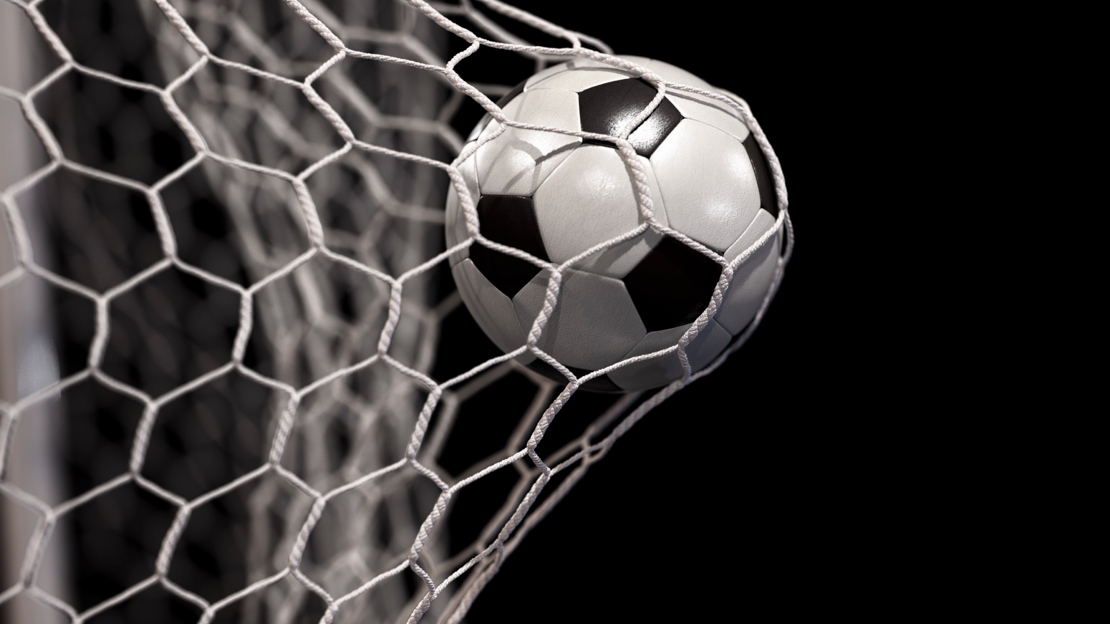 Beautiful Soccer Ball Flies Into Net On A Black Background In Slow Motion Stock Footage Flies Net Ball Beautiful Soccer Ball Soccer Soccer Backgrounds