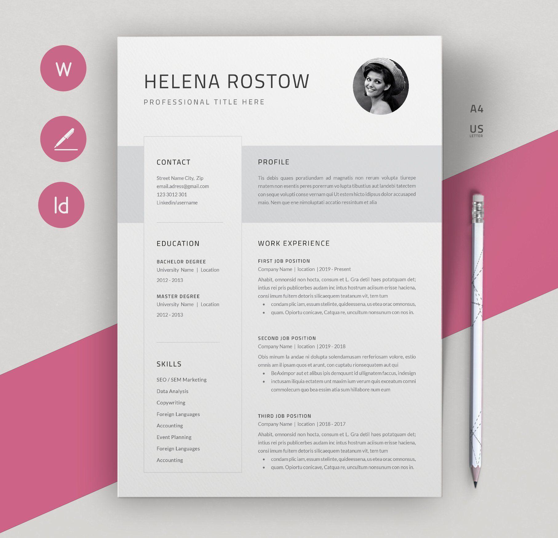 Resume Cv Template Resume Design Template Cv Template Resume Design