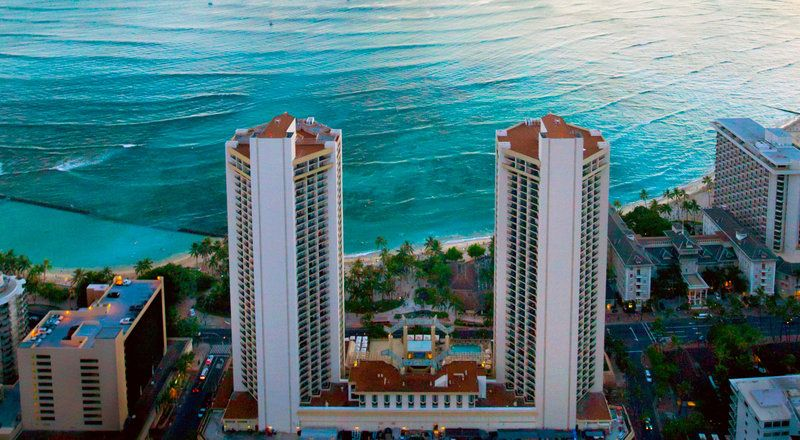 Aerial View Of Hyatt Regency Waikiki Beach Resort Spa In Hawaii