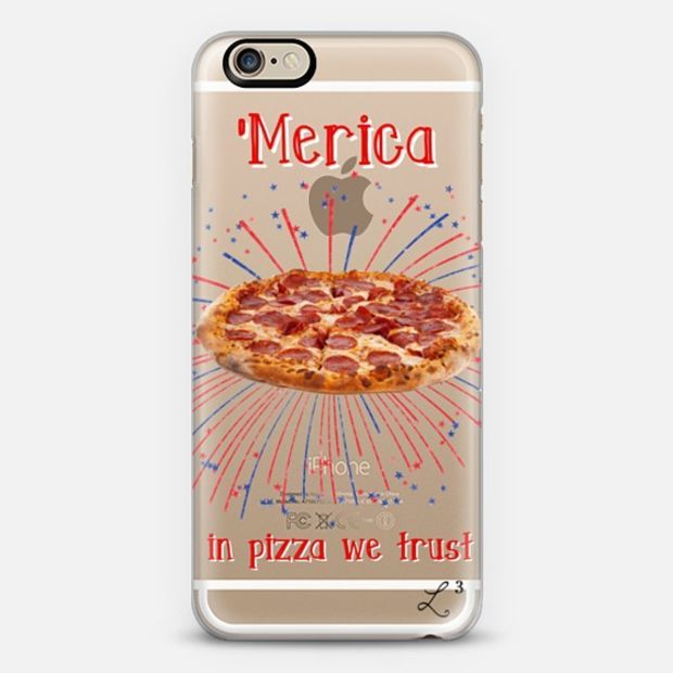 'Merica - In Pizza We Trust iPhone 6 case by Love Lunch Liftoff | Casetify - take $10 off with promo code QJ3PX9 - FREE SHIPPING TOO!