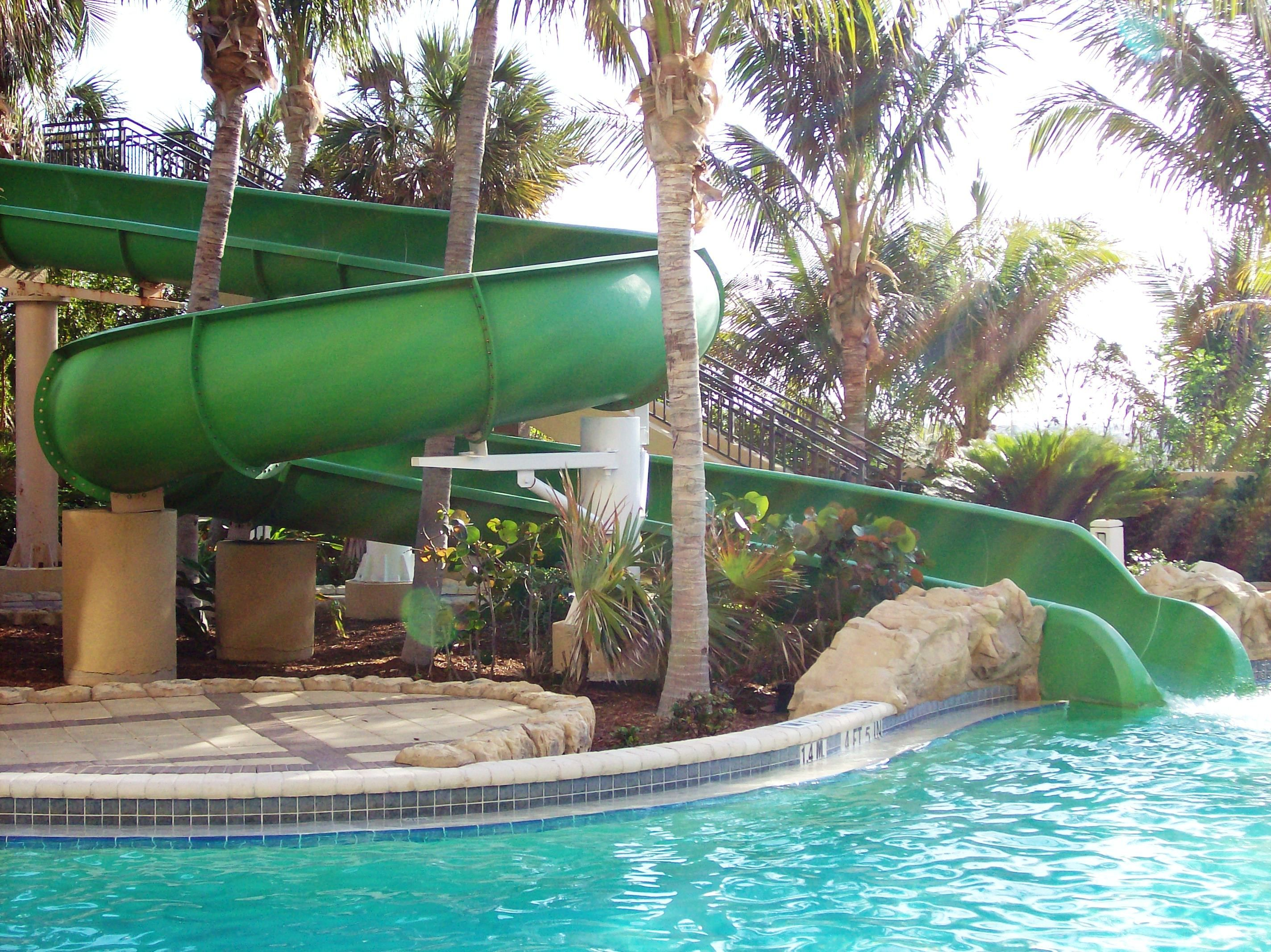 Lagoon Pool Waterslide at the Palm Beach Marriott Singer Island ...