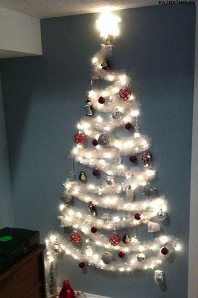 The No Tree Christmas Tree Wall Christmas Tree Alternative Christmas Tree Diy Christmas Tree